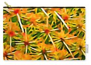 Cactus Pattern 2 Yellow Carry-all Pouch by Amy Vangsgard