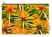 Cactus Pattern 3 Yellow Carry-all Pouch by Amy Vangsgard