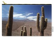 Cactus With The Andes Mountains Carry-all Pouch