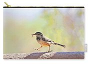 Cactus Wren With Worm Carry-all Pouch