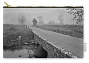 Cades Cove Black And White Carry-all Pouch by Frozen in Time Fine Art Photography
