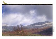 Cades Cove First Dusting Of Snow II Carry-all Pouch by Debra and Dave Vanderlaan
