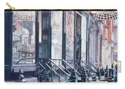 Cafe Della Pace East 7th Street New York City Carry-all Pouch by Anthony Butera