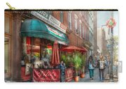 Cafe - Hoboken Nj - Vito's Italian Deli  Carry-all Pouch by Mike Savad