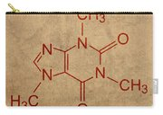 Caffeine Molecule Coffee Fanatic Humor Art Poster Carry-all Pouch by Design Turnpike