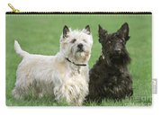 Cairn Terrier And Scottish Terrier Carry-all Pouch