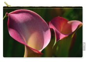 Cala Lilies Light And Shadow Carry-all Pouch