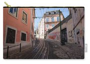 Calcada Da Gloria Street In Lisbon Carry-all Pouch