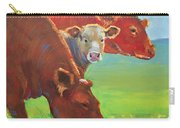 Calf And Cows Painting Carry-all Pouch