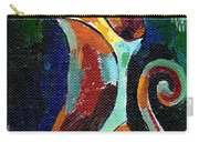 Calico Cat Abstract In Moonlight Carry-all Pouch