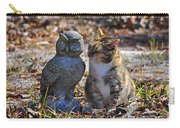 Calico Cat And Obtuse Owl Carry-all Pouch by Al Powell Photography USA
