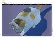 Calico On Purple Carry-all Pouch