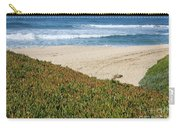 California Beach With Ice Plant Carry-all Pouch by Carol Groenen