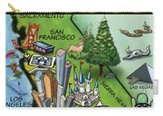 California Cartoon Map Carry-all Pouch