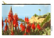 California Coastline With Red Hot Poker Plants Carry-all Pouch