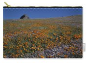 California Gold Poppies And Baby Blue Eyes Carry-all Pouch