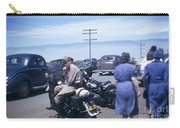California Highway Patrol Harley Davidson Circa 1948 Carry-all Pouch