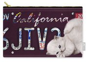 California License Plate Carry-all Pouch
