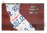 California License Plate Map Carry-all Pouch