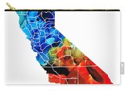 California - Map Counties By Sharon Cummings Carry-all Pouch