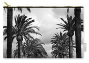 California Palms - Black And White Carry-all Pouch