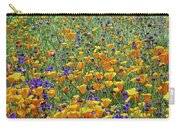 California Poppies And Desert Blubells Carry-all Pouch