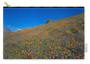 California Poppies Baby Blue Eyes And Owl Clover Carry-all Pouch