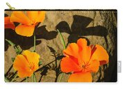 California Poppies - Crisp Shadows From The Desert Sun  Carry-all Pouch