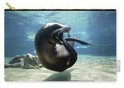 California Sea Lion Yawning Carry-all Pouch by Hiroya Minakuchi