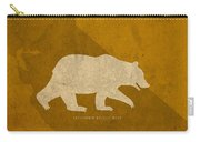 California State Facts Minimalist Movie Poster Art  Carry-all Pouch by Design Turnpike