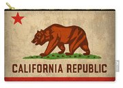 California State Flag Art On Worn Canvas Carry-all Pouch by Design Turnpike