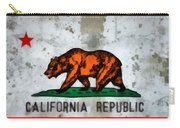 California State Flag Weathered And Worn Carry-all Pouch