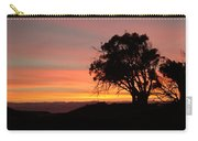 California Tree At Sunset Carry-all Pouch