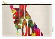 California Typographic Watercolor Map Carry-all Pouch
