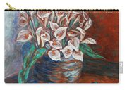 Calla Lilies And Frog Carry-all Pouch
