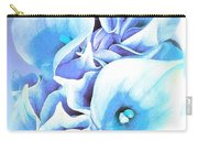 Calla Lilly So Soft Lilac And Blue Carry-all Pouch