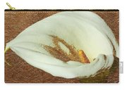 Calla Lily Gold Leaf Carry-all Pouch
