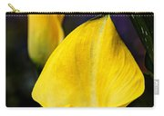 Calla Lily Portrait In Yellow And Green Carry-all Pouch