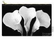 Calla Lily Trio In Black And White Carry-all Pouch
