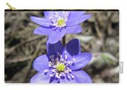 Calling Spring. Two Violets Carry-all Pouch