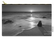 Calm Winter Waves Bw Carry-all Pouch