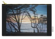 Cambria Cypress Trees At Sunset Carry-all Pouch