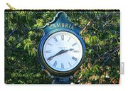 Cambria Square Time Clock Carry-all Pouch