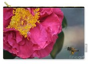 Camellia With Bee Carry-all Pouch