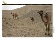 Camels At The Israel Desert -2 Carry-all Pouch