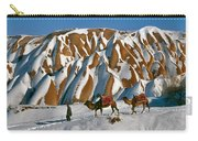Camels On The Snow Carry-all Pouch