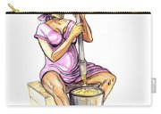 Cameroon Woman Grinding Plantain Bananas Carry-all Pouch