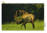 Camoflaged Elk With Shadows Carry-all Pouch