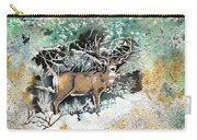 Camouflaged Mule Deer Buck In Winter Carry-all Pouch