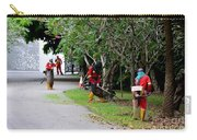 Camouflaged Leaf Blowers Working In Singapore Park Carry-all Pouch